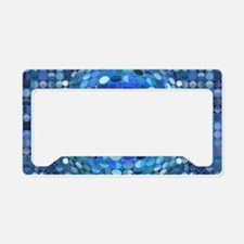 Optical Illusion Sphere - Blue License Plate Holde