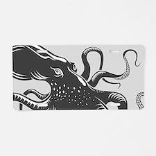 Octopus Aluminum License Plate