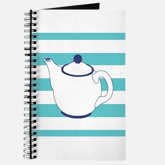 Teapot on Stripes Journal