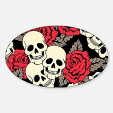 Flowers and Skulls Decal