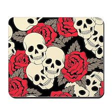 Flowers and Skulls Mousepad