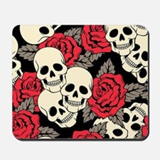 Flowers and Skulls Mousepad
