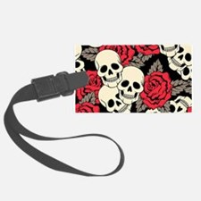 Flowers and Skulls Luggage Tag