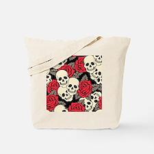 Flowers and Skulls Tote Bag