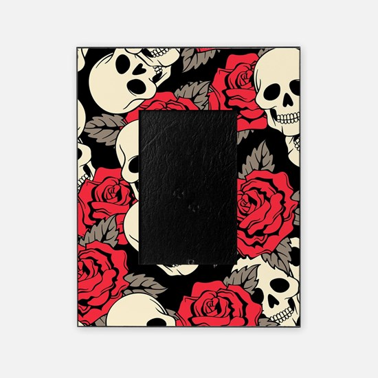 Flowers and Skulls Picture Frame