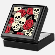 Flowers and Skulls Keepsake Box