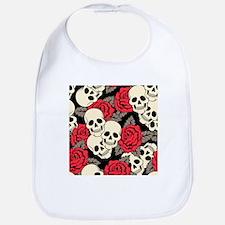 Flowers and Skulls Bib