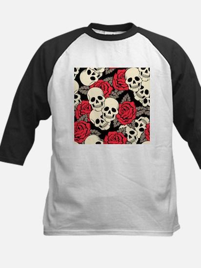 Flowers and Skulls Baseball Jersey
