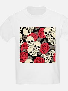 Flowers and Skulls T-Shirt