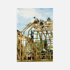 Amish Barn Raising Magnets
