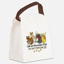 Funny Cat lovers Canvas Lunch Bag