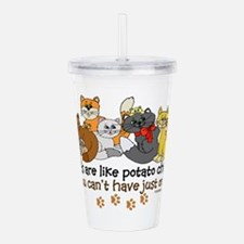 Cute Cats Acrylic Double-wall Tumbler
