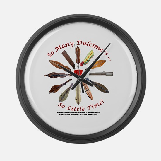 dulcimer Large Wall Clock