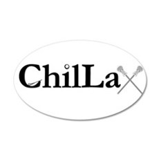 ChilLax 20x12 Oval Wall Decal