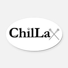 ChilLax Oval Car Magnet