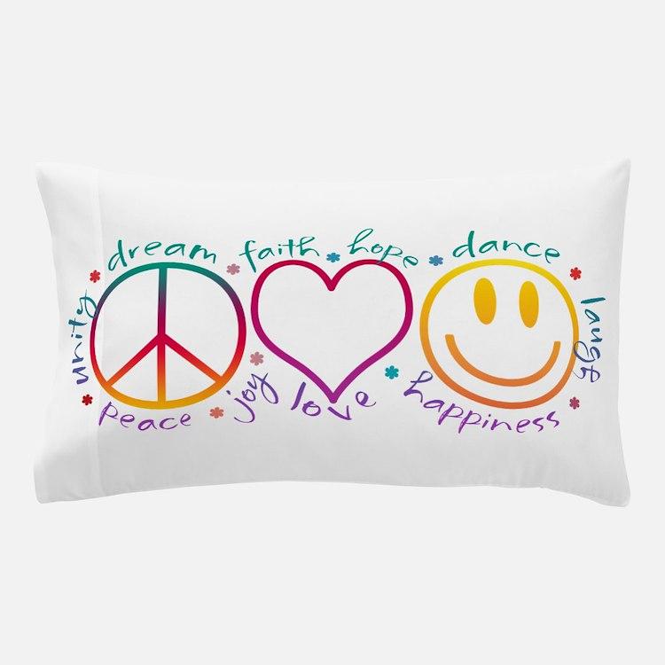 Cute Peace love Pillow Case