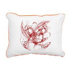 Red Ribbon Rectangular Canvas Pillow