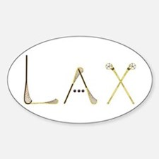 Lax Traditional Sticker (Oval)