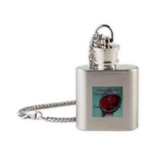 Too much wine Flask Necklace