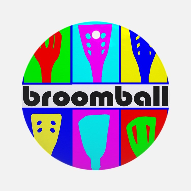 Broomball Heads Ornament (Round)