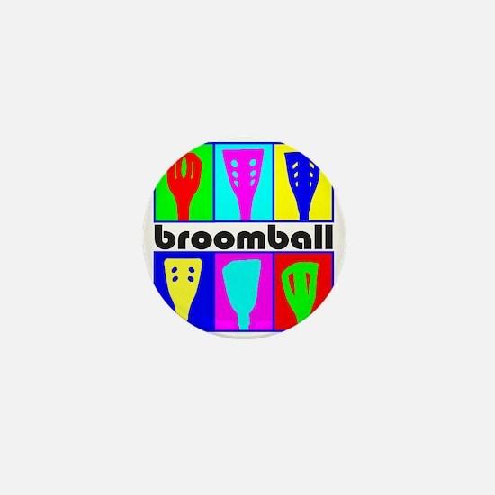 Broomball Heads Mini Button