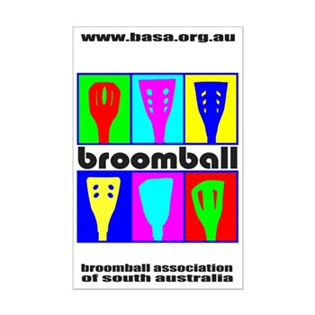 Broomball Heads Mini Poster Print