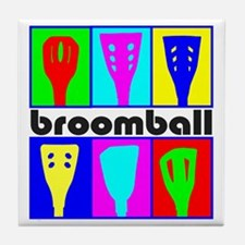 Broomball Heads Tile Coaster