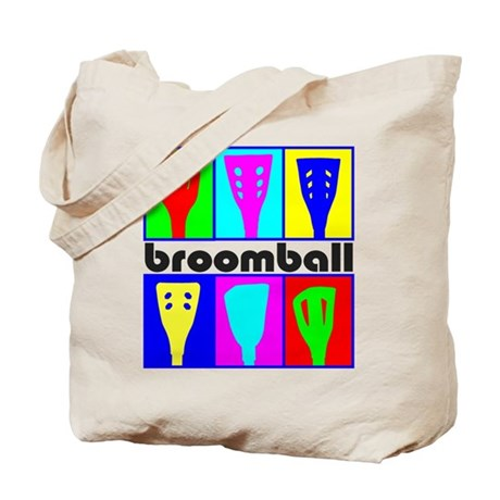 Broomball Heads Tote Bag