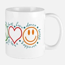 Peace Love Laugh Inspiration Design Mugs