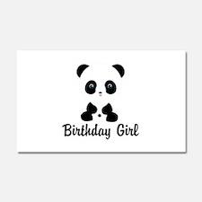 Birthday Girl Panda Bear Car Magnet 20 x 12
