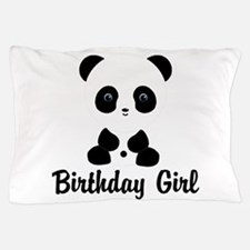 Birthday Girl Panda Bear Pillow Case