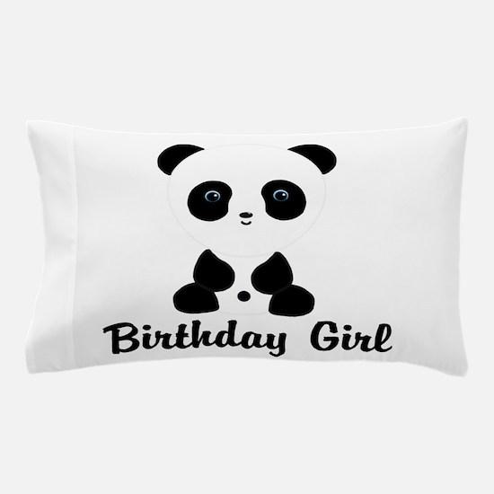 Birthday Girl Panda Bear Pillow Case