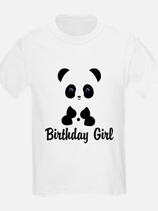 Birthday Girl Panda Bear T-Shirt