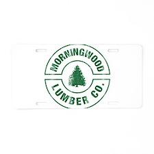 Cute Lumberjack Aluminum License Plate
