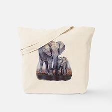 Elephants Mom Baby Tote Bag