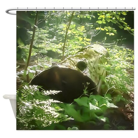 Lush green forest shower curtain by yosemitebound - Forest green shower curtain ...