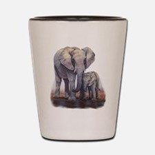 Elephants Mom Baby Shot Glass