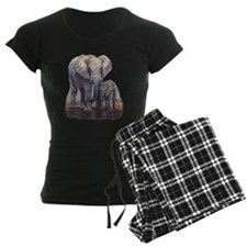 Elephants Mom Baby Pajamas