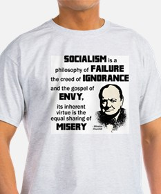 Cute Churchill quote on socialism T-Shirt