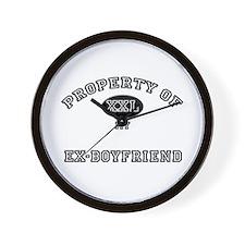 Property of my EX-BOYFRIEND Wall Clock