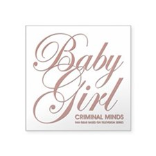 "BABY GIRL Square Sticker 3"" x 3"""
