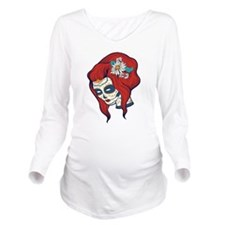 Sugar Skull 4 Long Sleeve Maternity T-Shirt