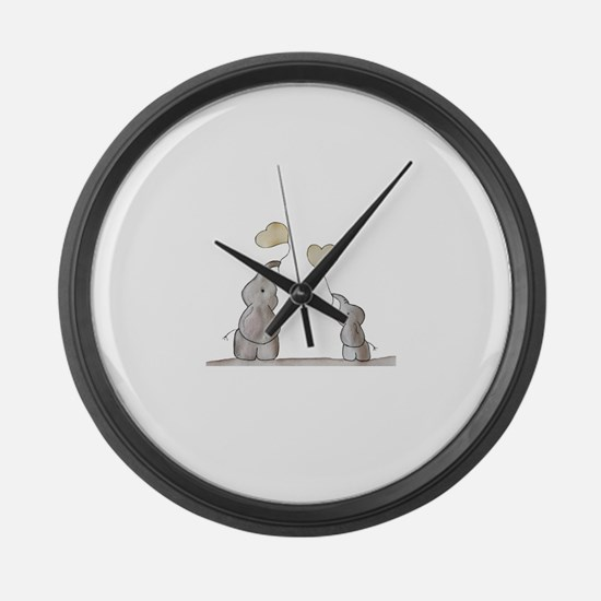 Cute Elephant Large Wall Clock
