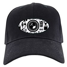 Photographer Icons Set Baseball Hat