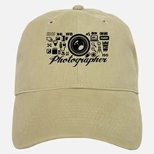 Photographer Icons Set Baseball Baseball Cap