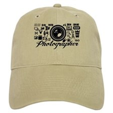Photographer Icons Set Baseball Cap