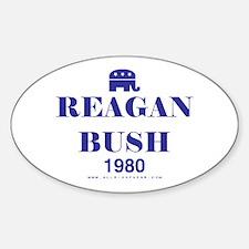 Reagan Bush 1980 Oval Decal