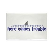 Here comes trouble Rectangle Magnet (10 pack)