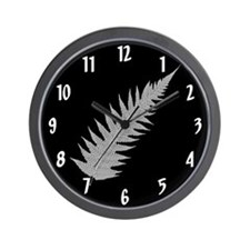 Silver Fern Aotearoa Wall Clock