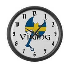 Swedish Viking Large Wall Clock